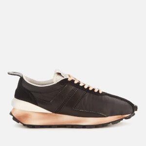 Lanvin Men's Suede Running Trainers - Black