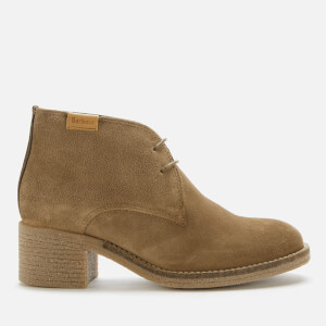 Barbour Women's Edele Suede Heeled Ankle Boots - Taupe