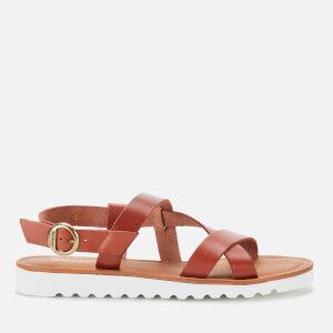 Barbour Women's Sandside Strappy Leather Sandals - Dark Tan