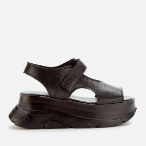 Joshua Sanders Women's Spice Leather Wedged Sandals - Black