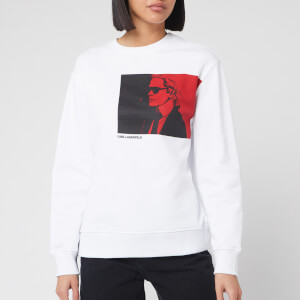 Karl Lagerfeld Women's Legend Sweatshirt - White