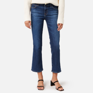 J Brand Women's Selena Mid Rise Crop Bootcut Jeans - Arcade