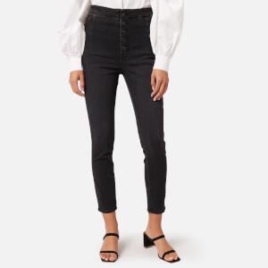 J Brand Women's Natasha Sky High Crop Skinny Jeans - Vane