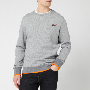 Superdry Men's Orange Label Hyper Pop Crew Sweatshirt - Grey Feeder