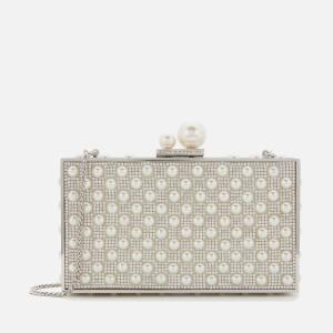 Sophia Webster Women's Clara Crystal Box Bag - Silver/Pearl