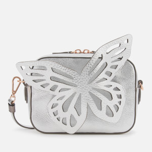 Sophia Webster Women's Flossy Butterfly Camera Bag - Silver