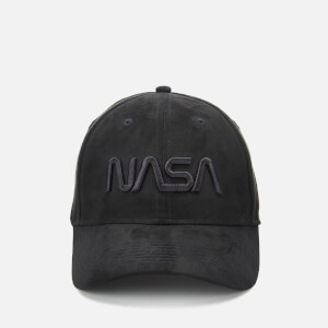 NASA 3D Embroidered Suede Cap - Black