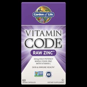 Витаминный комплекс Vitamin Code Raw Zinc - 60 капсул