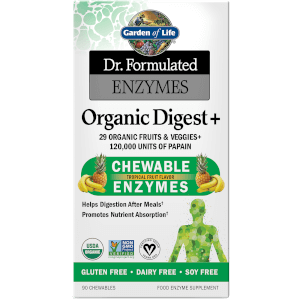 Organic Digestion+ Enzymes - Fruit Tropical - 90 comprimés à croquer
