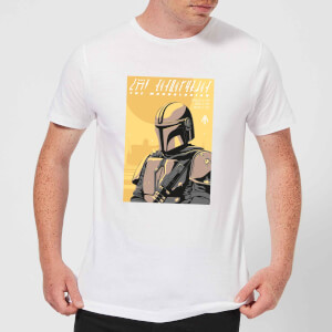 Camiseta The Mandalorian Art Poster - Hombre - Blanco