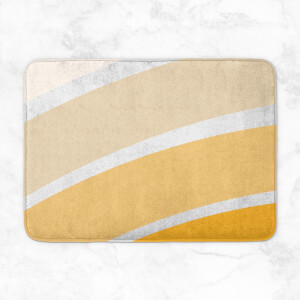 Rainbow Yellow Stripes Bath Mat
