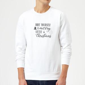 Merry little Christmas Sweatshirt - White