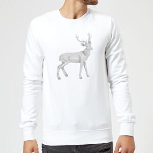 Glitter Stag Sweatshirt - White
