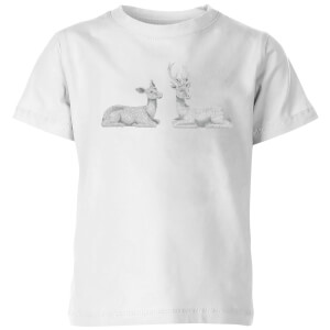 Glitter Stags Kids' T-Shirt - White