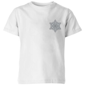 Snowflake Kids' T-Shirt - White