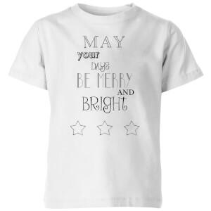 Merry Days Kids' T-Shirt - White