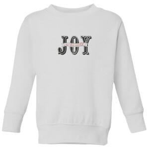 Joy Kids' Sweatshirt - White