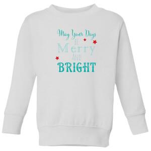 Merry & Bright Kids' Sweatshirt - White