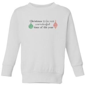 Wonderful Christmas year Kids' Sweatshirt - White