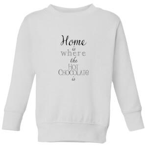 Hot Choc Kids' Sweatshirt - White