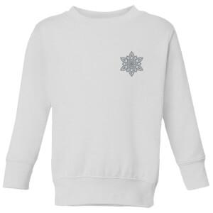 Snowflake Kids' Sweatshirt - White
