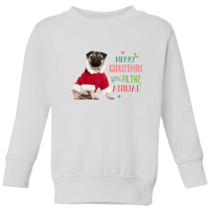 Christmas Pug Kids' Sweatshirt - White