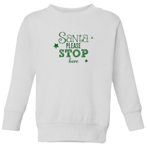 Santa Stop Kids' Sweatshirt - White