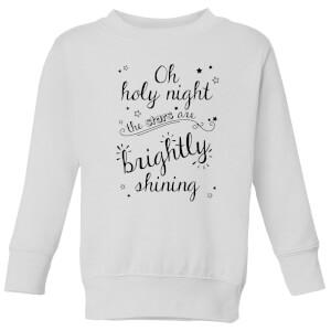 Holy Night Kids' Sweatshirt - White