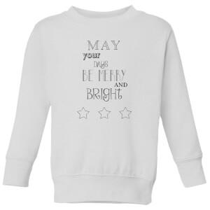 Merry Days Kids' Sweatshirt - White
