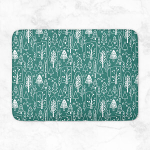 Hand Drawn Forest Bath Mat