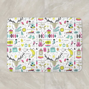 Funky Christmas Pattern Bath Mat