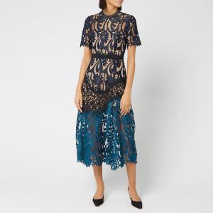 Self-Portrait Women's Prairie Midi Dress - Multi