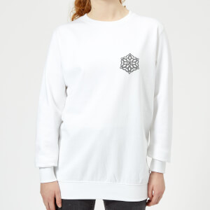 Snow-flake Women's Sweatshirt - White