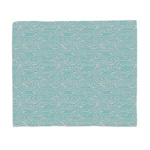 Grey Motherboard Fleece Blanket