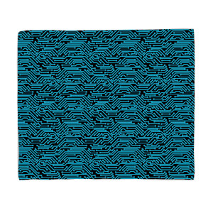 Blue Motherboard Fleece Blanket