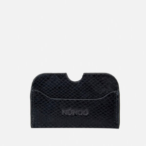 Núnoo Women's Carla Snake Card Holder - Black
