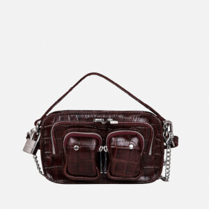 Núnoo Women's Helena Croco Cross Body Bag - Brown