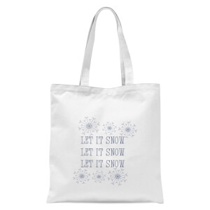 Let it Snow Tote Bag - White