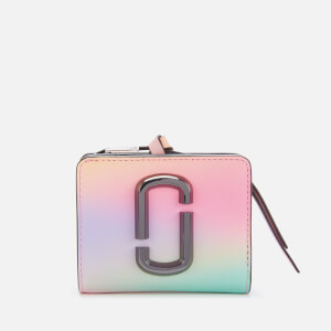Marc Jacobs Women's Snapshot Airbrushed Mini Compact Wallet - White