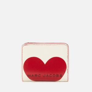 Marc Jacobs Women's Valentines Heart Mini Compact Wallet - Cotton Multi
