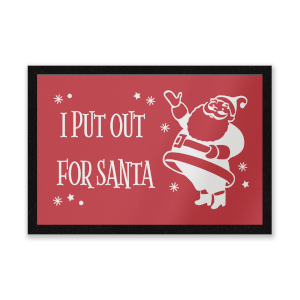 I Put Out For Santa Vintage Santa Entrance Mat