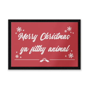 Merry Christmas Ya Filthy Animal! Door Mat Entrance Mat