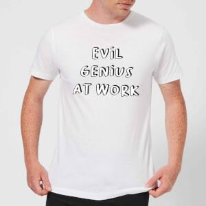 Evil Genius At Work Men's T-Shirt - White