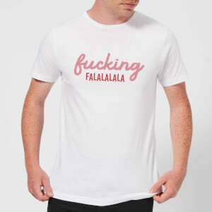 Cross Stitch Fucking Falalalalalala Men's T-Shirt - White
