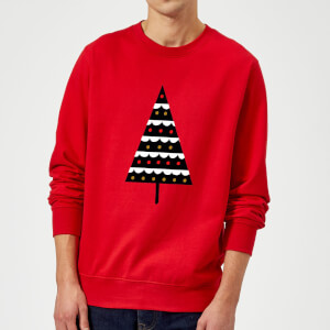 Dark Christmas Tree Sweatshirt - Red