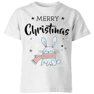 Merry Christmas Rabbit Kids' T-Shirt - White