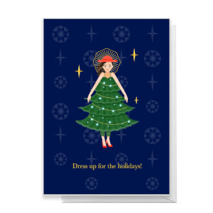 Dress Up For The Holidays! Greetings Card