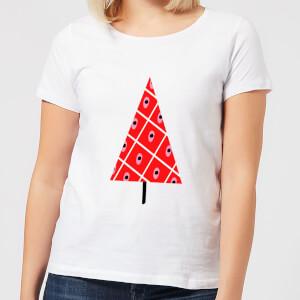 Spotty Christmas Tree Women's T-Shirt - White