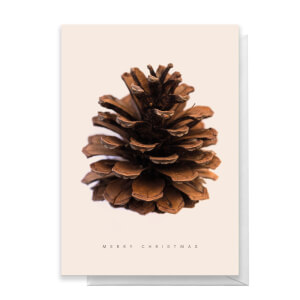 Pine Cone Merry Christmas Greetings Card