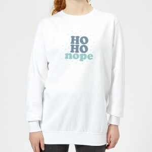 Cross Stitch Ho Ho Nope Women's Sweatshirt - White